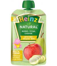 Heinz Natural пюре сашет, яблоко, груша и кабачок, с 5 месяцев, 90гр (04566)