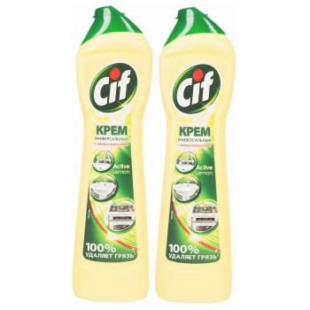 Cif Универсальный чистящий крем, Лимон, выгодный набор, 2шт, 1000мл (75841+)