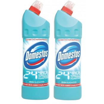 Domestos двойная сила универсальное чистящее средство, Свежесть Атлантики, выгодный набор, 2шт, 2000мл (94952)