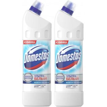 Domestos чистящее средство для унитаза, Ультра белый, выгодный набор, 2шт, 2000мл (15875)