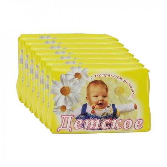 Мыло детское туалетное, с экстрактом ромашки, выгодный набор, 10шт*150гр (05862+)