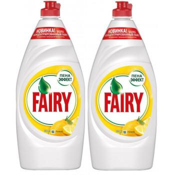 Fairy средство для мытья посуды, сочный лимон, выгодный набор, 2шт*900мл (69443)