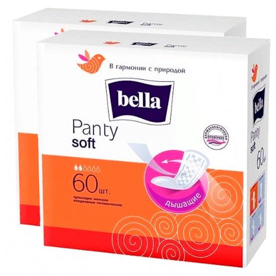 Bella Soft ежедневные прокладки, 2 капли, выгодный набор, 2пачки*60шт (12084)
