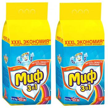 Миф Color стиральный порошок автомат, Свежий цвет, для цветного белья, выгодный набор, 18кг (72762)