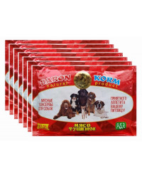 Baron korm корм для собак и кошек, мясные консервы, выгодный набор, 7шт*500гр (90013-)