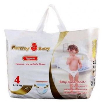 Mommy Baby трусики #4, 9-15 кг, 42шт (59053)