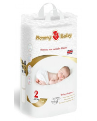 Mommy Baby подгузники #2, 4-8 кг, 56шт (59008)