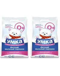 Умка детский мыльный порошок, выгодный набор, 2шт*2,4кг (21057)