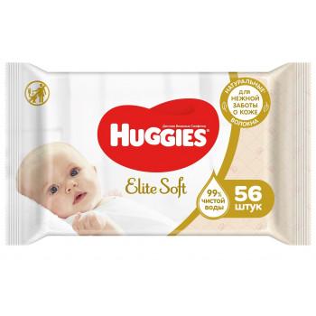 Huggies new born влажные салфетки для детей, 56шт (73021)