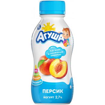 Агуша детский питьевой йогурт персик 2,7%, с 8 месяцев, 200гр (90855)