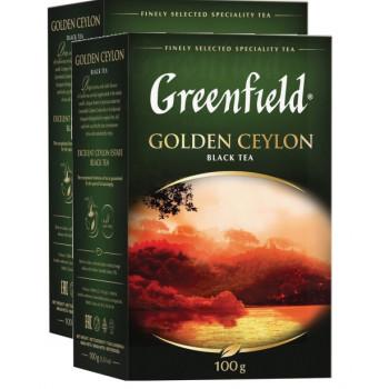 Greenfield Golden Ceylon чёрный чай листовой, 2шт*100гр (03516)