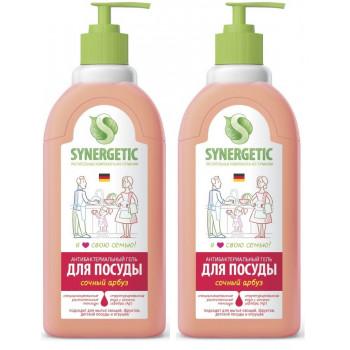 Synergetic средство для мытья посуды и детских игрушек, Сочный арбуз, выгодный набор 2шт*1литр (58298)