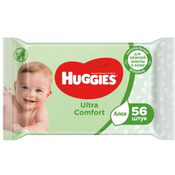Huggies детские влажные салфетки, Алое, 56шт (74295)