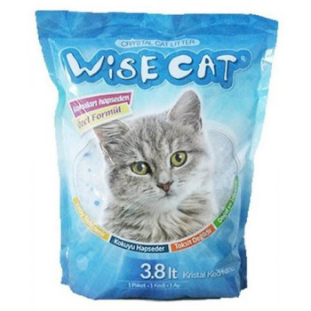 Wisecat силикагелевый наполнитель для кошачьих туалетов 3,8л (00138)