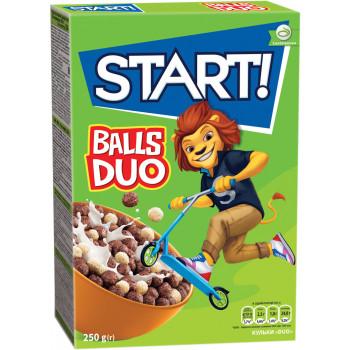 START DUO готовый завтрак, сухие зерновые шарики, 250гр (26474)