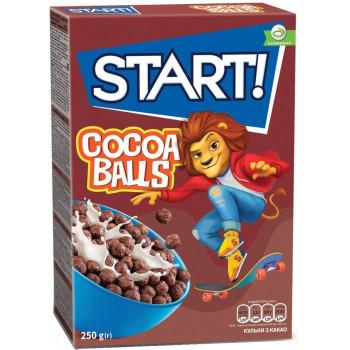 START DUO готовый завтрак, сухие зерновые шарики с какао, 250гр (25460)