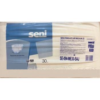 Seni Standard Air подгузники для взрослых #2, Medium, 6 капель, 75-125 см, 30шт (95415)