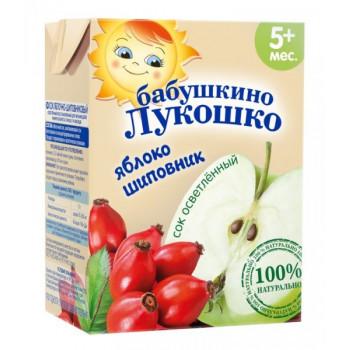 Бабушкино Лукошко сок Яблоко-Шиповник, 5+ месяцев, 200 мл (09024)