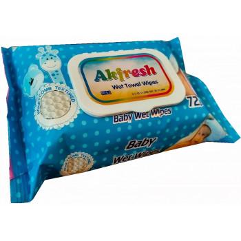 Akfresh Baby влажные салфетки для детей, 72шт (34615)