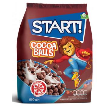 START DUO готовый завтрак, сухие зерновые шарики с какао, 500гр (25477)