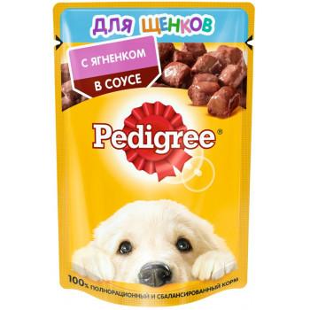 Pedigree корм пауч для щенков, ягненок в соусе, 85гр (03968)
