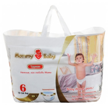 Mommy Baby трусики #6, 13-24 кг, 38шт (59061)