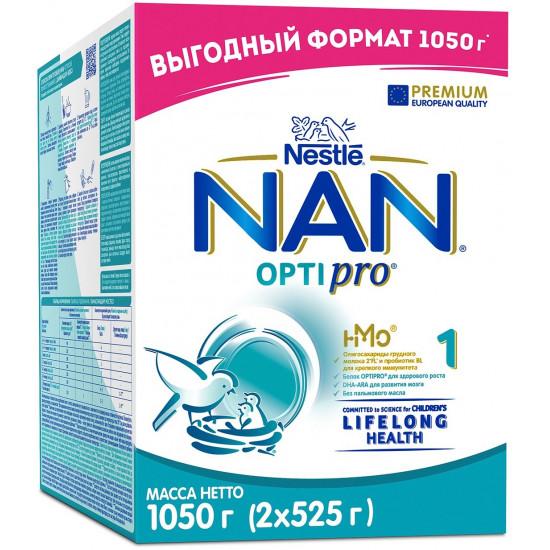 Nestle NAN Optipro сухая молочная смесь #1, 0-6 месяцев, 1050гр (14512)