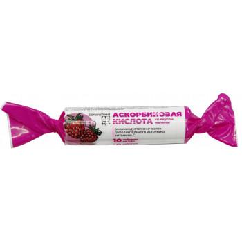 Аскорбиновая кислота, вкус малины, 10 таблеток (70150)