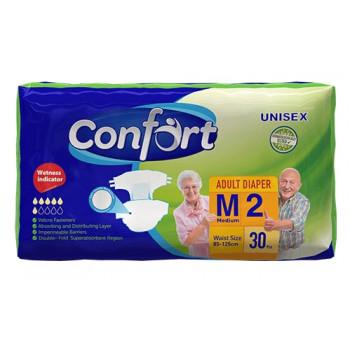 Confort подгузники для взрослых M2, 85-125 см, 6 капель, 30шт (90347)