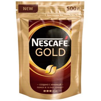 Nescafe Gold кофе растворимый сублимированный, сашет 500р (08387+)