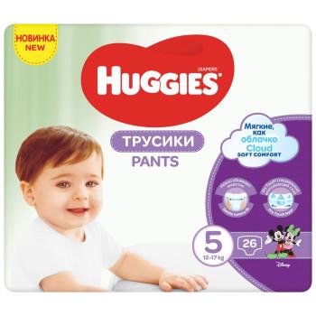 Huggies подгузники-трусики #5, 12-17кг, 26шт (48326)