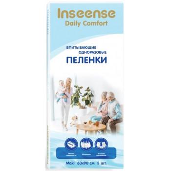Inseense Maxi одноразовые пеленки для детей и взрослых, впитывающие, 60x90см, 5шт (52862)