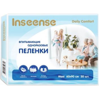 Inseense Maxi одноразовые пеленки для детей и взрослых, впитывающие, 60x90см, 30шт (52879)