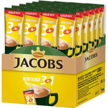 Jacobs Мягкий кофе растворимый 3в1, 24 пакетика (78387)