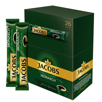 Jacobs Monarch кофе растворимый сублимированный, 24 пакетика (76437)