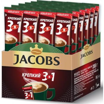 Jacobs Крепкий кофе растворимый 3в1, 24 пакетика (78388)
