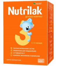 Nutrilak сухая молочная смесь #3,  12-18 месяцев, 600г (20725)