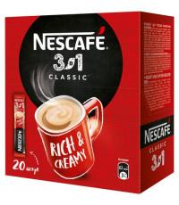Nescafe Classic кофе растворимый 3в1, 20 пакетиков (11660)
