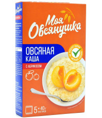 Моя Овсянушка, каша овсяная с абрикосом, 5 пакетов, 40гр (38120)