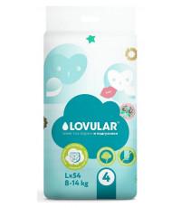 Lovular Sweet kiss подгузники #4 L, 8-14кг, 54шт (90114)