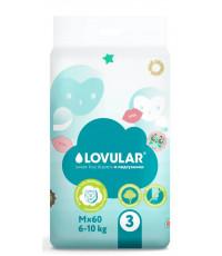 Lovular Sweet kiss подгузники #3 M, 6-10кг, 60шт (90115)