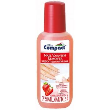 Compact жидкость для снятия лака, клубника,  75мл (32086)