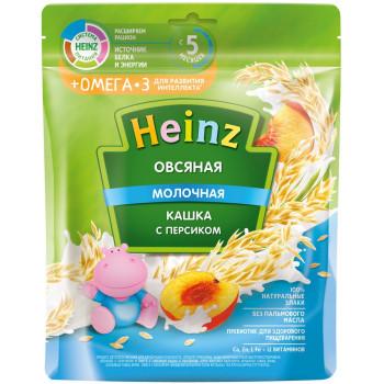 Heinz овсяная каша, персик с молоком + омега3, с 5 месяцев, 200гр (05075)