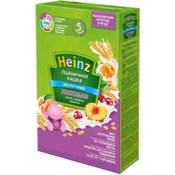 Heinz  Лакомая пшеничная каша, персик, абрикос и вишня, с 5 месяцев, 200гр (01398)