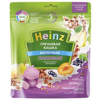 Heinz Лакомая гречневая каша, груша, абрикос и смородина, с 5 месяцев, 200гр  (01411)