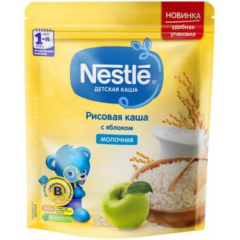 Nestle рисовая  каша с яблоком, с молоком, c 5 месяцев, 220гр (05621)