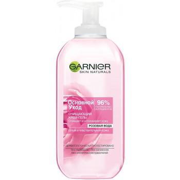 Garnier очищающий гель-крем, Розовая вода, для сухой и чувствительный кожи, 200мл (44308)