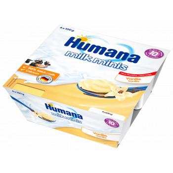 Humana пудинг ванильный, с 10 месяцев, 4шт*100гр (84476)