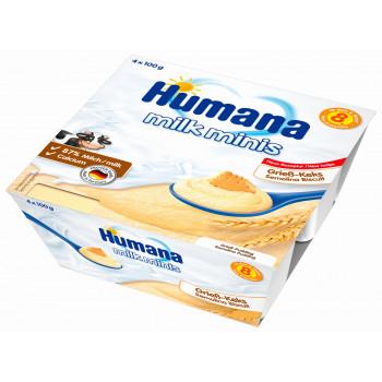 Humana бисквитная молочная каша, с 8 месяцев, 4шт*100гр  (84438)