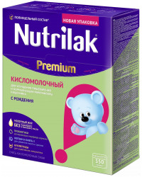 Nutrilak сухая кисломолочная смесь, с рождения, 350гр (18165)